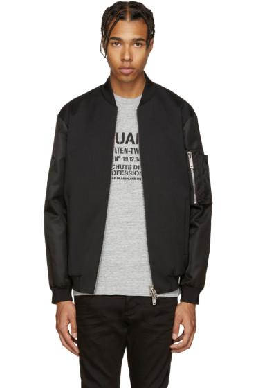 Dsquared2 - Black Wool Bomber Jacket