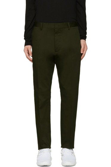 Dsquared2 - Green Cotton Hockney Trousers
