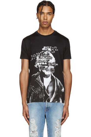 Dsquared2 - Black Punk Chic Dan T-Shirt