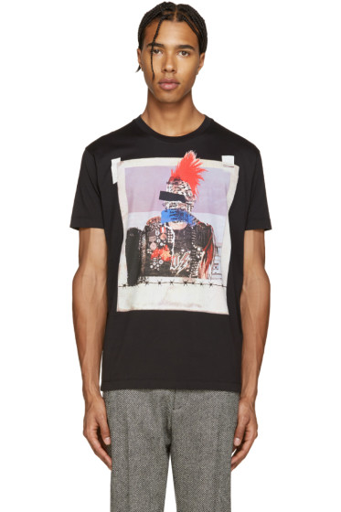 Dsquared2 - Black Picture Print Chic Dan T-Shirt