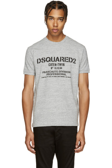 Dsquared2 - Grey Parachute Logo T-Shirt