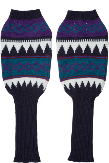Maison Margiela - Multicolor Knit Arm Warmers