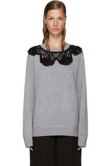 Marc Jacobs - Grey Crochet Collar Pullover
