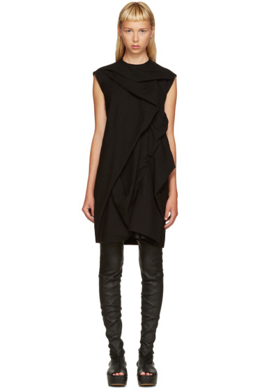 Rick Owens - Black Shield Tunic Dress