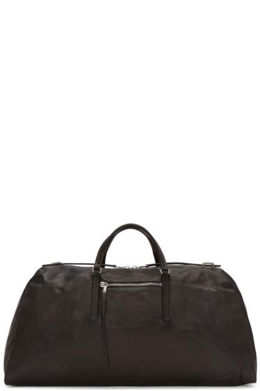 Rick Owens - Black Leather Weekender Bag