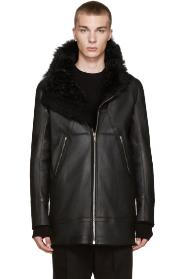 Rick Owens - Black Shearling Showter Jacket