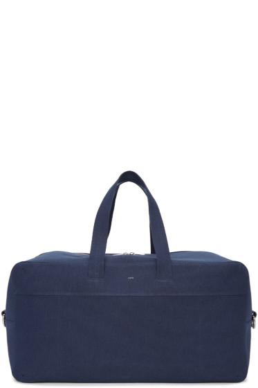 A.P.C. - Navy Canvas Xavier Duffle Bag