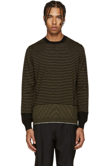 Lanvin - Black & Yellow Merino Sweater