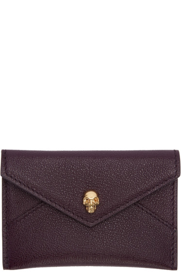 Alexander McQueen - Purple Skull Card Holder