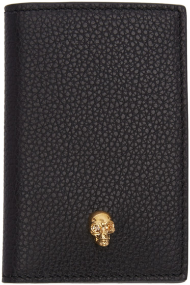 Alexander McQueen - Black Leather Skull Wallet
