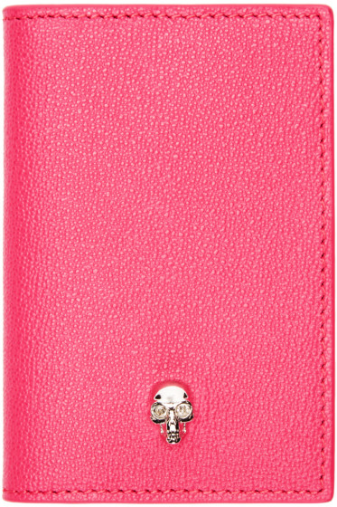 Alexander McQueen - Pink Leather Skull Wallet