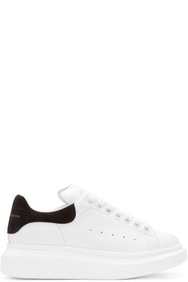 Alexander McQueen - White & Black Leather Sneakers
