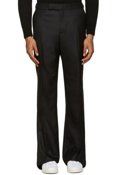 Alexander McQueen - Black Wool Wide-Leg Trousers