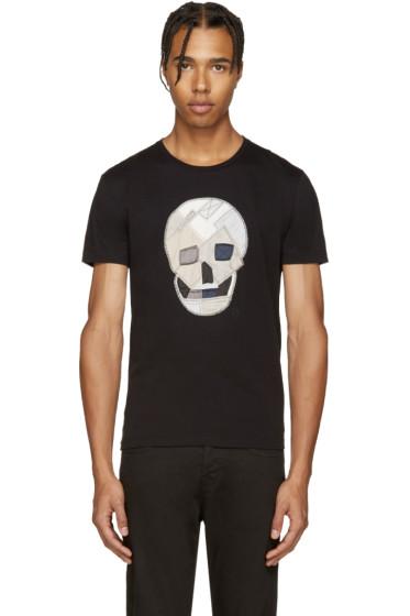 Alexander McQueen - Black Patchwork Skull T-Shirt