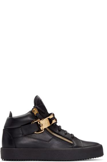 Giuseppe Zanotti - Black London High-Top Sneakers