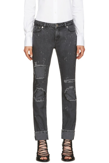 Givenchy - Grey Distressed Jeans