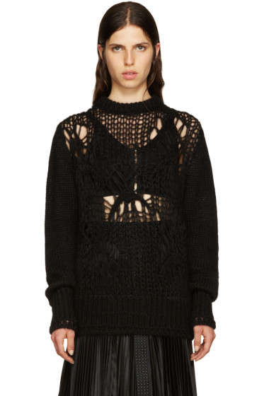 Givenchy - Black Mohair Destroyed Sweater