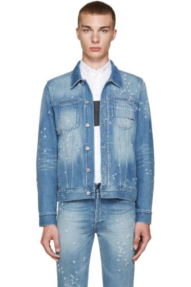 Givenchy - Blue Distressed Denim Jacket