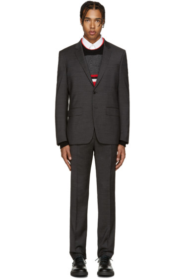 Givenchy - Grey Textured Drop 8 Suit