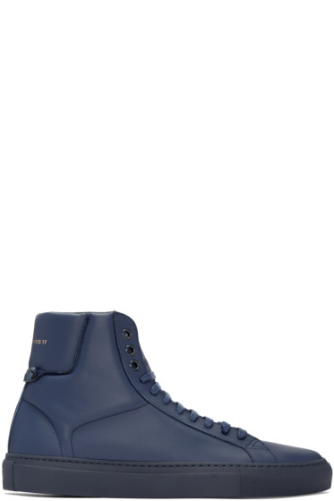 Givenchy - Navy Urban Knots High-Top Sneakers