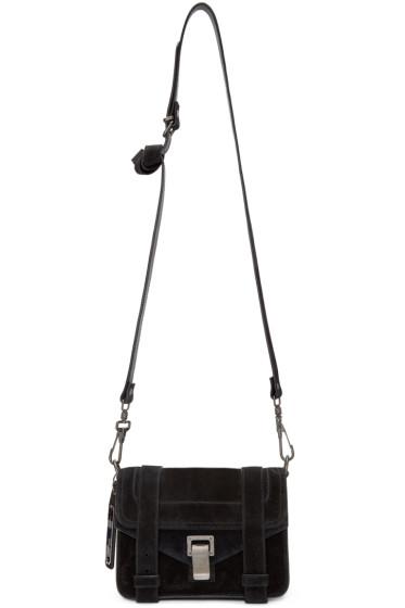 Proenza Schouler - Black Suede Mini PS1 Bag