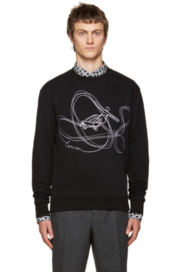 Carven - Black Embroidered Sweatshirt