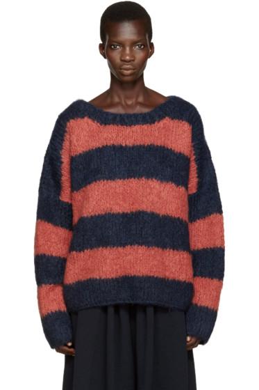 Chloé - Navy & Orange Mohair Sweater