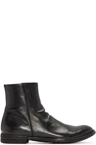 Officine Creative - Black Leather Zip Boots