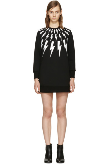 Neil Barrett - Black Thunderbolt Dress