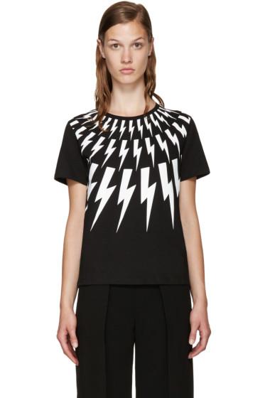 Neil Barrett - Black Thunderbolt T-Shirt