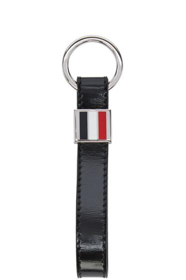 Thom Browne - Black Leather Key chain