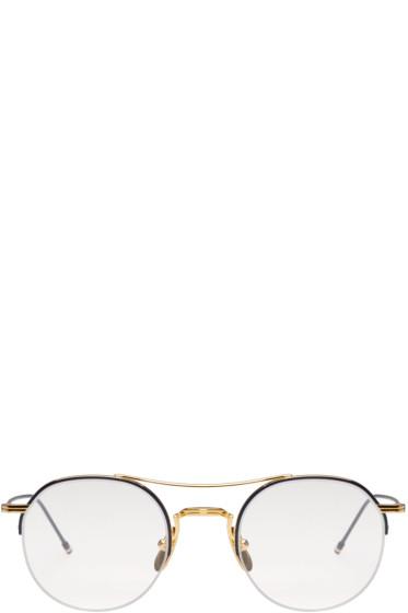 Thom Browne - Gold Semi-Rimless Optical Glasses