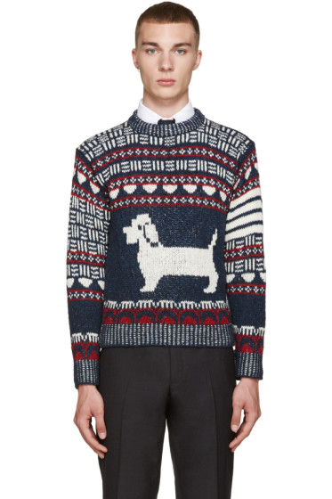 Thom Browne - Navy Fair Isle Hector Sweater