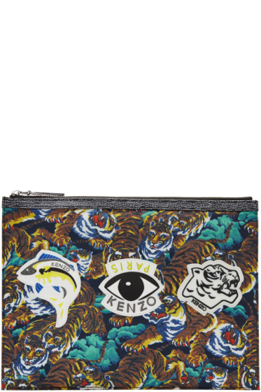 Kenzo - Multicolor Signature Prints Zip Pouch