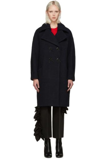 Kenzo - Blue Brushed Wool Coat