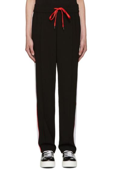 Kenzo - Black Crepe Stripe Jog Trousers