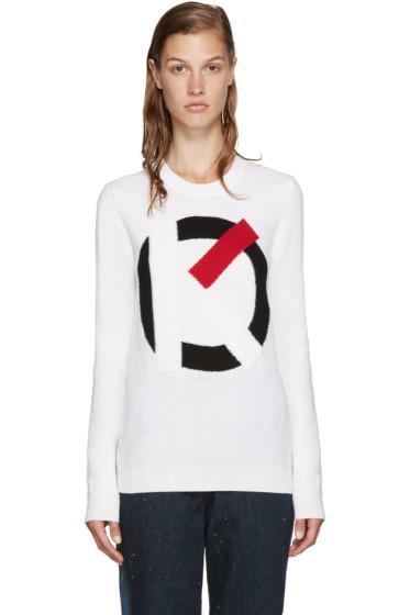 Kenzo - Off-White Intarsia Logo Sweater