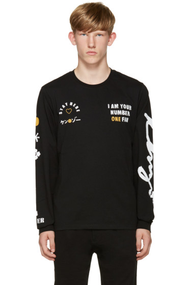 Kenzo - Black 'I Am Your #1 Fan' T-Shirt