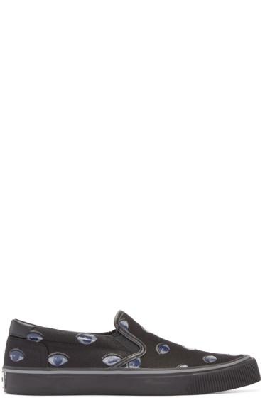 Kenzo - Black Eyes Slip-On Sneakers