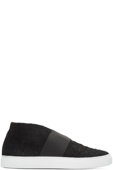 Diemme - Black Suede Cassola Mid-Top Sneakers