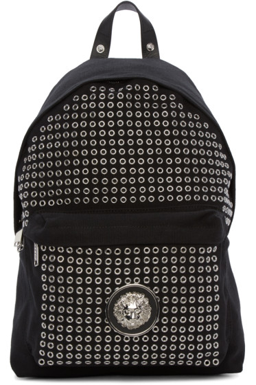 Versus - Black Eyelet Backpack