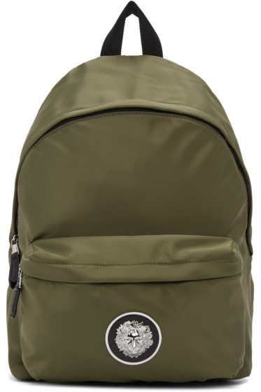 Versus - Green Nylon Logo Backpack