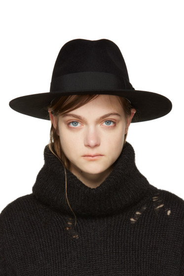 Saint Laurent - Black Felt Bowie Fedora