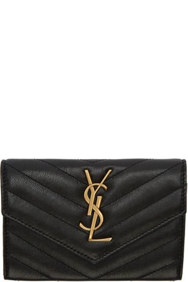 Saint Laurent - Black Small Envelope Wallet