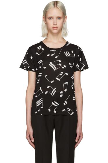 Saint Laurent - Black Music Note T-Shirt