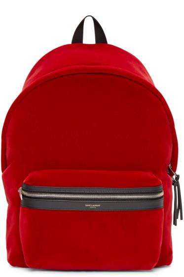 Saint Laurent - Red Velvet Backpack