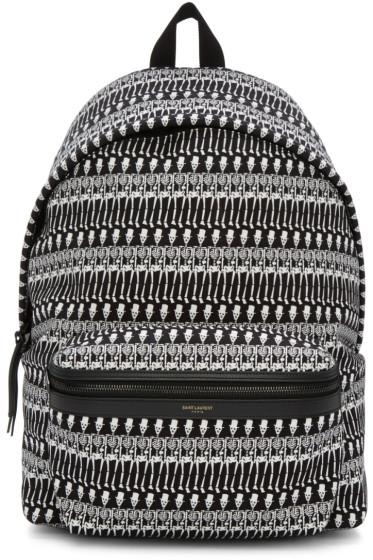 Saint Laurent - Black & White Skeleton Backpack