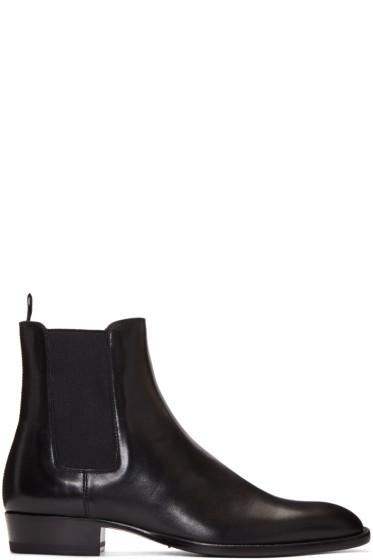 Saint Laurent - Black Leather Hedi Boots