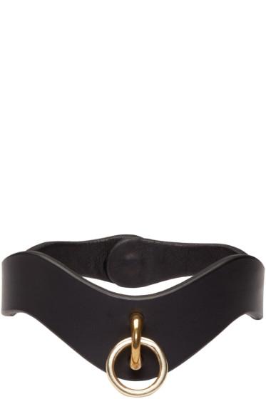 Fleet Ilya - Black Leather O-Ring Choker