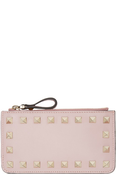 Valentino - Pink Rockstud Coin Pouch